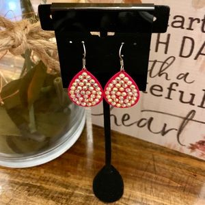 Pretty In Pink Iridescent Stoned Earrings
